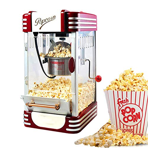 Review XYWN Popcorn Maker Fresh, Healthy and Fat-Free Theater Style Popcorn Machine Anytime Oil-Free...