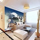 ZJFHL Wandtuch tapete Geige Fototapete 3D straße graffiti kunst mural wohnzimmer esszimmer wand dekoration wandbild 350CMx250CM