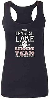 Pop Threads Camp Crystal Lake Running Team Horror Costume Fashion Tank Top Tee for Women