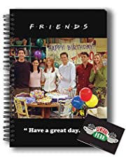 MCSID RAZZ- Friends TV Series Spiral Notebook of Happy Birthday Chandler and Central perk Fridge Magnet | Gift Combo pack of 2 | Licensed by Warner Bros, USA (India ) Best Gift for Friendship Day, Rakhi, Diwali & Christmas Day