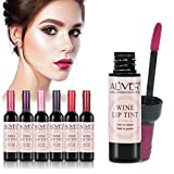 6 Colors/Set Wine Lipstick Matte Long Lasting Waterproof Lip Tint Set Lip Gloss Lip Stain
