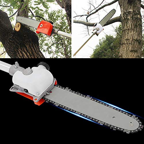 Kuhxz 5 in 1 52cc Petrol Hedge Trimmer Chainsaw Brush Cutter Pole Saw Outdoor Tools Garden Tool Gas String Trimmer Included Brush Cutter, Pruner, Strimmer, Portable Petrol Cordless Hedge Trimmer