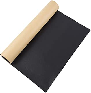 BENECREAT 12x24 Inches Large Adhesive Leather Repair Patch for Upholstery Sofa Couch Car Seat Furniture (Black, 0.8mm Thick)