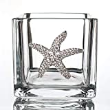 THE QUEENS' JEWELS Starfish Jeweled 4x4 Candleholder Vase - Unique Gift for Women, Birthda...