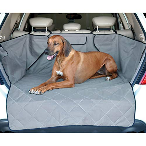 K&H Pet Products Quilted Cargo Cover with Side Walls and Bumper Flap Protection, SUV Dog Cargo Liner, Multiple Colors