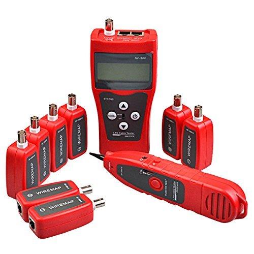 NF-388Netzwerkkabel-Tester für Ethernet, LAN, Telefon, Kabelfinder, USB-Koaxialkabel, 8 xFar-End-Stecker