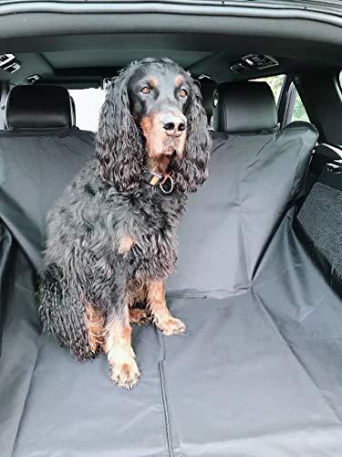B-Happy Hundedecke Autoschutzdecke Autoschondecke für Kofferaum Schwarz 140x150cm universale Decke für Hunde im Auto