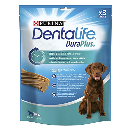 Purina Dentalife DuraPlus para Perros Large 25-40kg 5 x 3sticks 🔥