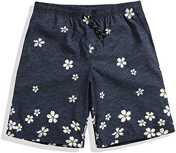 OME&QIUMEI Pantalons De Plage Hommes Quick Dry plage Spa Les Slips Boxer courtes Loose