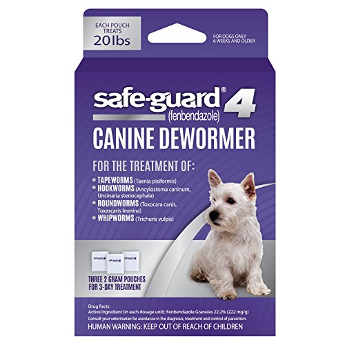 Excel Safe-Guard 4, Canine Dewormer for Dogs,...