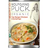 Wolfgang Puck Organic Free Range Chicken & Dumplings Soup, 14.5 oz. Can (Pack of 12)