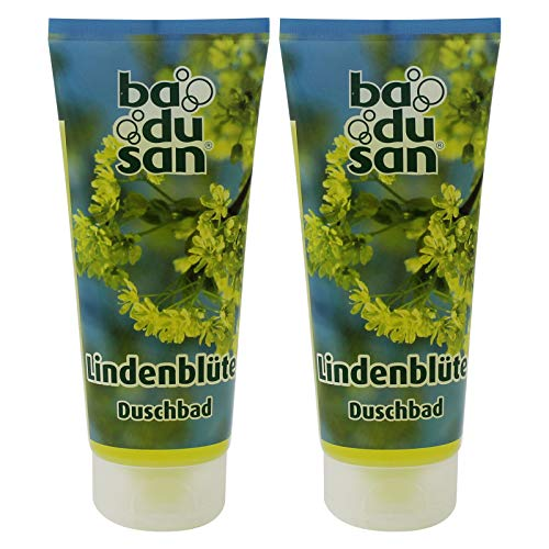 2er Pack Badusan Duschgel Duschbad Lindenblüte 2 x 200 ml Tube