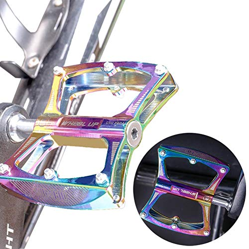 Makluce Pedales Bicicleta de Montaña CNC de Aleación de Aluminio Ultraligero Ultra Eje Teniendo Sellado Pedales Tipo Universal para MTB y Carreras Carretera BMX Bicicleta y Más Premium
