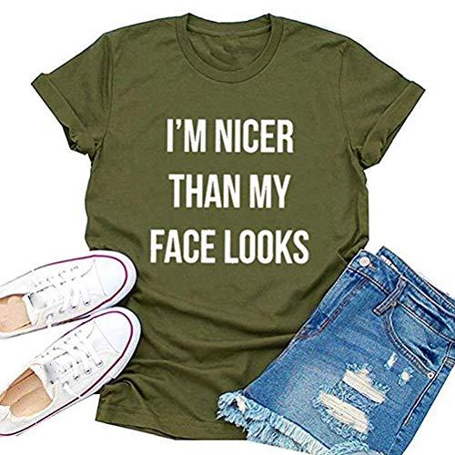 """YourTops Camiseta para mujer con texto en inglés """"I I"""