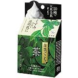SHIZEN GOKOCHI Facial Cleansing Set: Green Tea Bar Soap with Nylon Foaming Net Bag - 80g (japan...