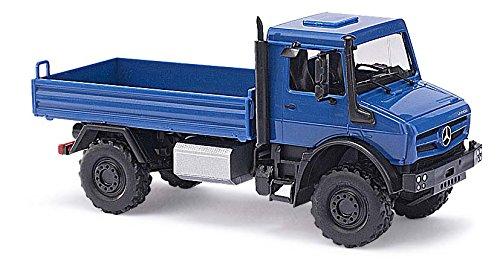 Busch 51002 - MB Unimog U 5023 / Pritsche CMD, Fahrzeug, blau