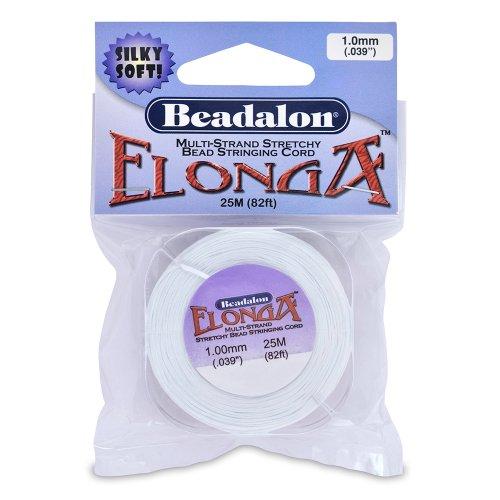 Beadalon Elonga 1.0mm White, 25-Meter