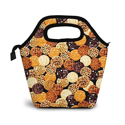 TUYUFBAGS Feinschmecker gemischte Kekse Lunch Tasche Wasserdicht Leichte Picknicktasche Mittagessen Isoliertasche Thermotasche Auslaufsichere zur Arbeit und Schule gehen