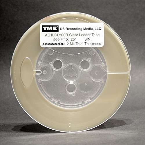 "Open Reel Audio Open Reel Leader and Sensing Tape Clear 1/4"" X 500 FT AC1LCL500R"