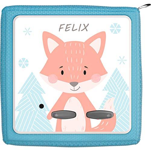 Coverlounge Schutzfolie passend für die Toniebox | Folie Sticker | Fuchs im Wald mit Name personalisiert