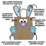 DIY Osterhasen Tüten mit Henkel – Bunte Geschenktüten zu Ostern zum selber Befüllen – zum Verpacken von Geschenken für Kinder und Erwachsene - 3