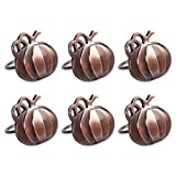 DII Thanksgiving Napkin Rings for Dinner Parties, Weddings Receptions, Family Gatherings, or Everyday Use, Set Your Table With Style - Pumpkins, Set of 6