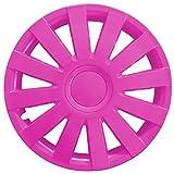 Eight Tec Handelsagentur (Farbe & Größe wählbar) 4er Set 15 Zoll AGAT Pink Radkappen Radzierblenden Radabdeckungen (universal)