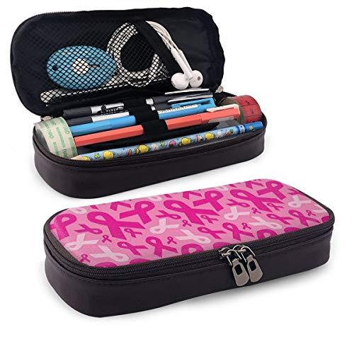 Tumore al seno rosa nastro alla moda carino retrò studente penna astuccio portamonete portamonete portachiavi trousse cosmetici borsa da viaggio multifunzione organizer