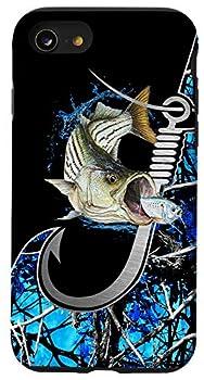 iPhone SE  2020  / 7 / 8 Bass blue fishing personalized gift camo fishing tattoo Case Case