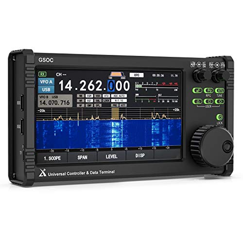 Xiegu GSOC Remote Controller LCD Touch Screen for Xiegu G90 HF Amateur Radio Transceiver, Spectrum & Waterfall Display, Supports Mouse & Keyboard Operating