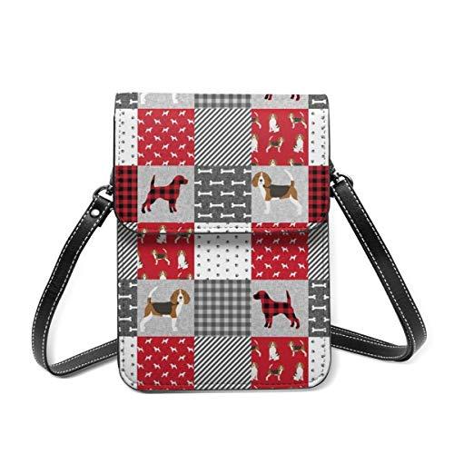 Beagle - Bolsa de hombro pequeña para mascotas, bolsa cruzada para teléfono celular, ligera, para mujeres y niñas