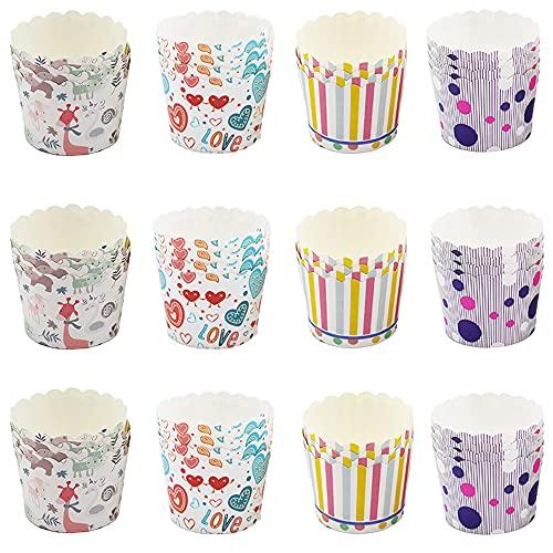 200 Stücke Cupcake-Papier, Muffin Förmchen Papier, Mini Cupcake Formen, Exquisit Mini Cupcake Papier Geeignet für Geburtstagsfeiern, Teepartys, Familienfeiern, Hochzeiten