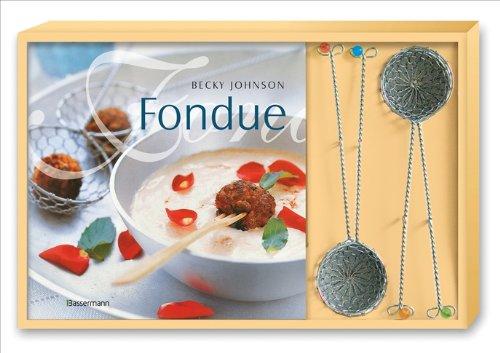 Fondue-Set: Buch und 4 Fonduesiebe