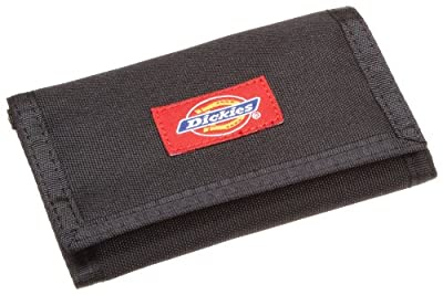 Dickies Mens Chains Leather Wallet - Security Trifold ID Window with Pockets for Credit Cards