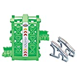 ONTOPON Elevator and Ramp Track Attachments,Unique Lift in Bend a Path Track Collection(Green Lift)