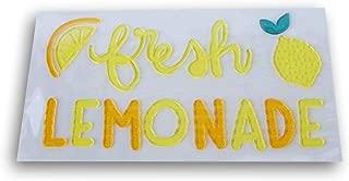 Retail Summer Themed Fresh Lemonade Window Gel Clings - 13 Piece