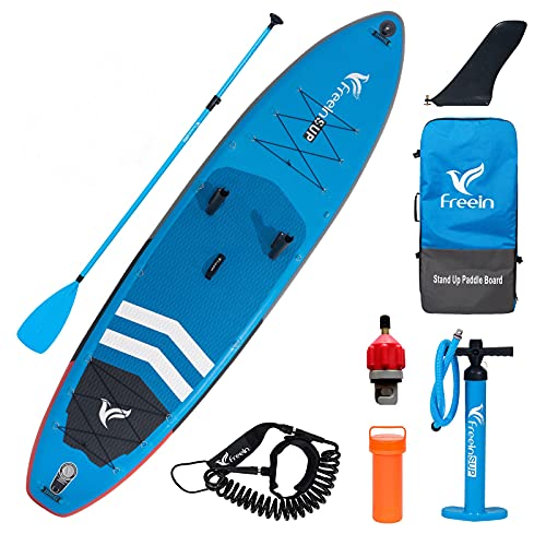 Freein Inflatable SUP Stand Up Paddle Board Inflatable Fishing iSUP...