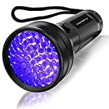 UV Flashlight Black Light , Vansky 51 LED Blacklight Pet Urine Detector for...