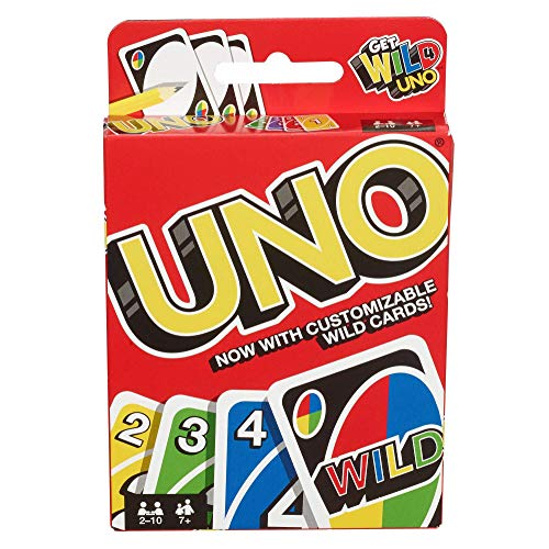 Product Image of the Mattel Games UNO: Classic Card Game, Multi, 8 x 3-3/4 x 81/100 in (42003)