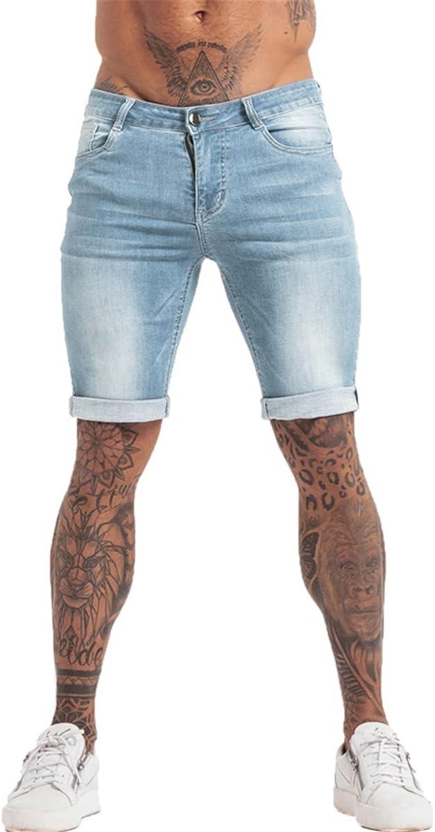 WoJogom Mens Shorts Jeans Denim Shorts Black High Waist Ripped Summer Jeans Shorts for Men Plus Size Casual Streetwear
