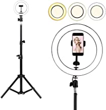 Selfie Ring Light with Tripod Stand, Womdee LED 3 Light Modes Ringlight with Cell Phone Holder, 10 inch Inner USB Selfie Ring Light for YouTube Video and Live Makeup/Photography (120CM)