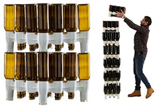 Set scolabottiglie Scola Bottiglie modulare 2 moduli Easy Drainer