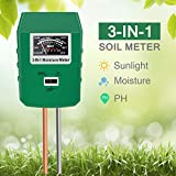 Xddias Soil Moisture Meter, 3 In 1 Soil Tester Kit with Moisture/pH/Light Test