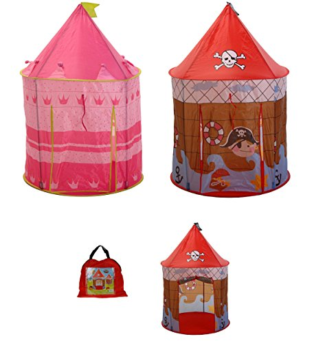 matrasa Prinzessinnenzelt od. Piratenzelt - Kinderzelt Spielzelt für Pirinzessin od. Pirat Piratenzelt