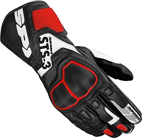 SPIDI Motorradhandschuhe lang Motorrad Handschuh STS-3 Lederhandschuh rot/schwarz L, Herren, Sportler, Ganzjährig