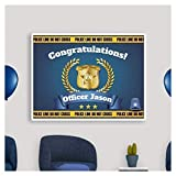 Graduation Banner, Congratulations Officer, Police Academy Banner Size 24x18, 36x24, 48x24 and 48x36, Police Party Ideas, Personalized Congratulation Party Banner Handmade Party Supply Poster Print