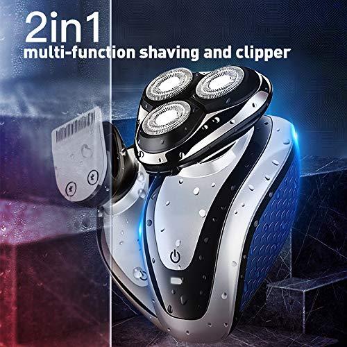 Elektrisch Scheren Tondeuse Waterdichte Elektrische Scheerapparaten Voor Mannen Met Een Laag Geluidsniveau 3D Tondeuse Scheermes Geschoren Hoofd Combo-Pakket