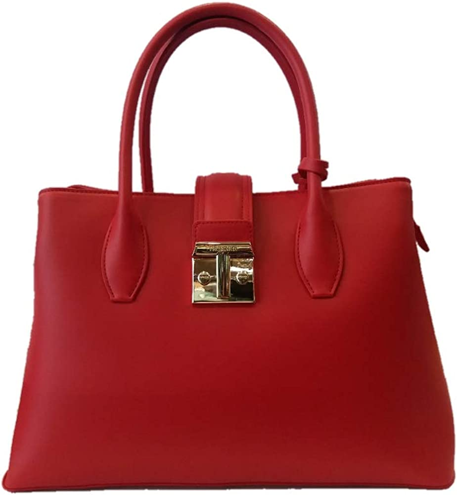 Trussardi tote bag tulip, borsa a mano per donna, in similpelle 75B01089 9Y099999