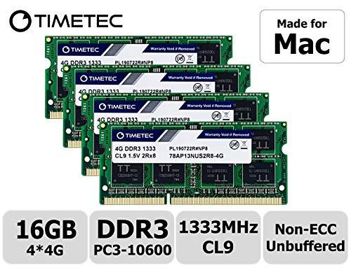 Timetec Hynix IC 16GB KIT(4x4GB) Compatible for Apple Mid 2010/2011 iMac 21.5/27 inch DDR3 1333MHz...