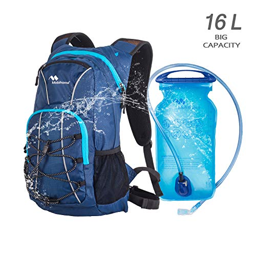 Water Backpack for Hiking 16L with 2L Leak Proof Bladder, Sport Large Capacity Lightweight Daypack for Women Men Multiple Storage Security Features Prefect Outdoor Gear for Cycling, Climbing, Running
